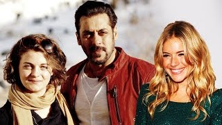 Salman With Hollywood Actresses Ronja Forcher & Sienna Miller