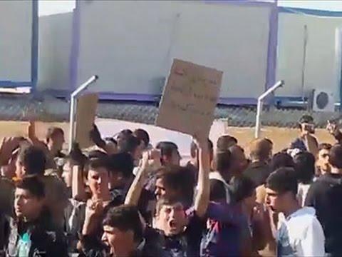 Raw- Yazidis Protest Living Conditions News Video