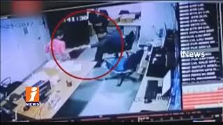 Hotel Women Employee Saree Pulled By Security Manager In Delhi | CCTV Footage | iNews