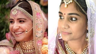 Virushka Wedding Inspired Makeup Look | Bridal Makeup| Nidhi Katiyar