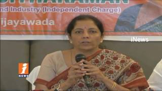 Union Minister Nirmala Sitharaman Participate Awareness Meeting on GST In Vijayawada | iNews