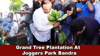 Sunny Leone With Hubby Daniel Doing Tree Plantation At Joggers Park