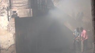 धू-धू कर जली फोम फैक्ट्री, लाखों का नुकसान