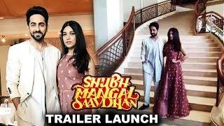 Ayushmann And Bhumi Pednekar Grand Entry At Shubh Mangal Saavdhan Launch