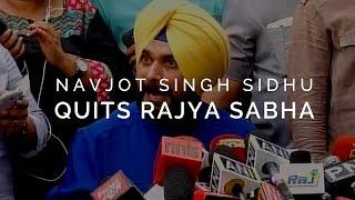 I quit Rajya Sabha as was told to stay away from Punjab- Navjot Singh Sidhu