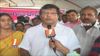 MLA Jalagam Venkat Rao Starts TRS Party Membership Drive In Lakshmi Devi Palli | Kothagudem | iNews