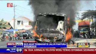 Bus Jurusan Semarang-Surabaya Terbakar di Jalur Pantura