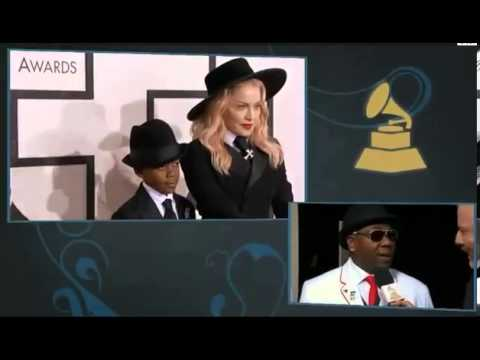 Grammy Awards 2014 Full Show - Madonna & Son David Grammy 2014 Awards Red Carpet Madonna1