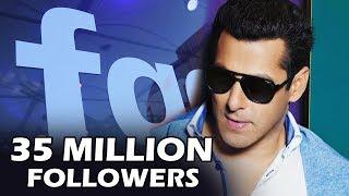 Salman CROSSES 35 Million Followers On Facebook - Beats Shahrukh Khan