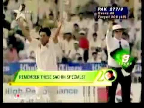 Rare SACHIN Tendulkar so ANGRY EXTREMELY RARE VIDEO, India vs Paskitan 1996 *Must Watch* - Cricket Classic Video