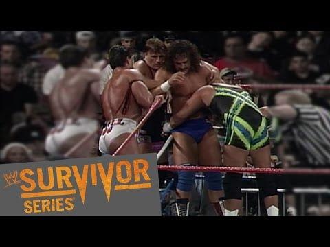 FULL-LENGTH PPV MATCH - Team Hart Family vs .Team Godwinn: Survivor Series 1996 - WWE Wrestling Video