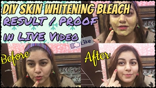 How to Bleach Facial Hair at Home | DIY Skin Whitening Bleach | Homemade Facial Hair Bleach