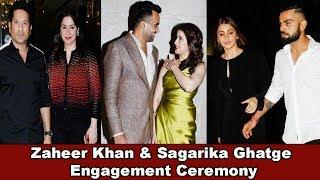 Anushka & Virat Kohil At Zaheer Khan & Sagarika Ghatge Engagement Ceremony