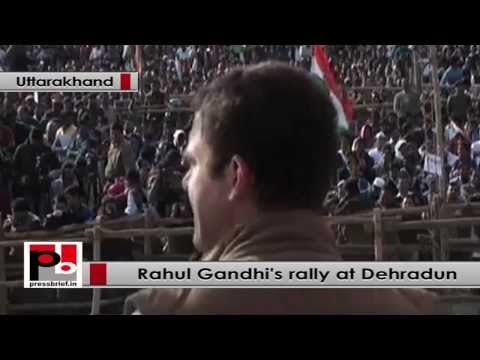 Rahul Gandhi at Dehradun- BJP is hungry for power, will do anything to grab power