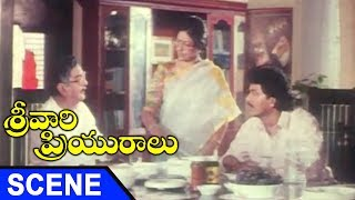Brahmanandam Hilarious Comedy With Satyanarayana || Srivari Priyuralu Movie Scenes
