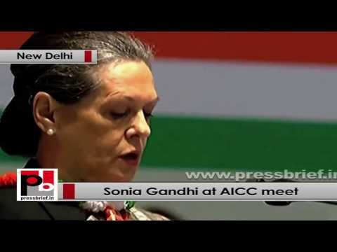 Sonia Gandhi at AICC Session- Communal forces and divisive ideology are the biggest enemies