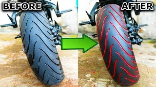 """3 easy steps to Paint any Motorcycle Tyre 