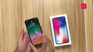 Unboxing the iPhone X- First impressions | ETPanache
