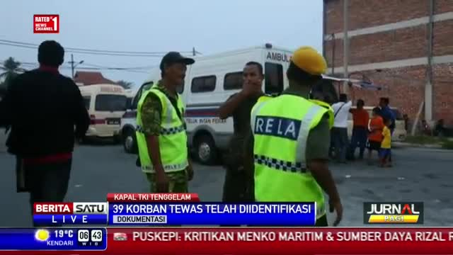 Tim SAR Masih Evakuasi Korban Kapal Karam di Malaysia
