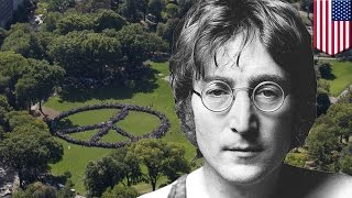 John Lennon's 75th birthday celebrated by world record human peace sign attempt