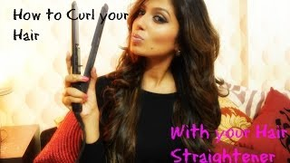 How to Curl your Hair with a Straightener / Soft Beach Curls