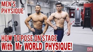 How to POSE ON STAGE with Mr World Physique! (Hindi / Punjabi)