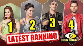 Bigg Boss 11 LATEST RANKING | Shilpa Shinde, Hina Khan, Aakash Dadlani, Puneesh Sharma