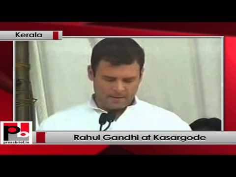 Rahul Gandhi at Kasargode, Kerala