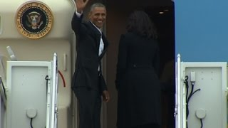 Obama and Family Depart for Cuba News Video