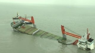 11 Rescued After Ships Crash in the Belgium