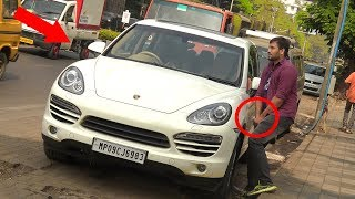 Pee Prank on Luxury Cars - Porsche Prank | Pee Prank GONE WRONG | Pranks in India