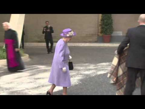 Raw- British Queen Meets With Pope Francis News Video