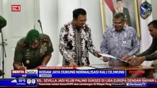 Pemprov DKI dan Kodam Jaya Teken Kesepakatan Normalisasi Ciliwung
