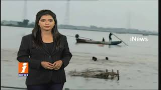Tourist Boat Capsized At Ferry Ghat In Ibrahimpatnam | Boat carrying 30 Passengers |Krishna| iNews