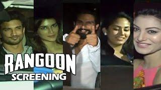 Rangoon Movie Screening - Shahid Kapoor, Kriti Sanon, Jacqueline, Mira Rajput, Sushant Rajput