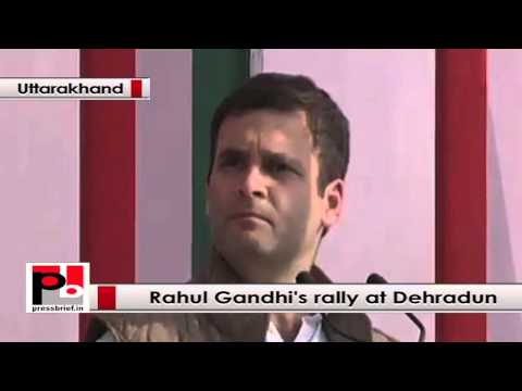 Rahul Gandhi at Dehardun- We gave rights to the people; lots of people came out of poverty