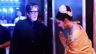 Amitabh Bachchan & Rekha Together At Neil Nitin Mukesh's Wedding Reception