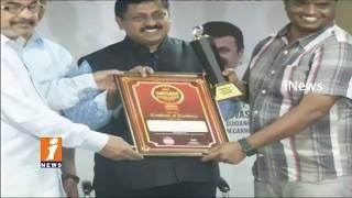 iNews Film Reporter Srinivas Gets Indywood Media Excellence Award 2017   iNews