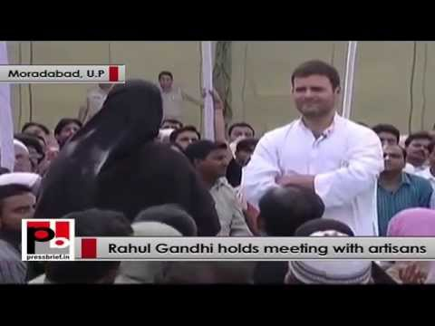 Rahul Gandhi to artisans - I want to work for you betterment