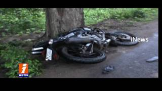 Road Accident at East Godavari Dist | Unknown Hits Bike | 3 Died | iNews