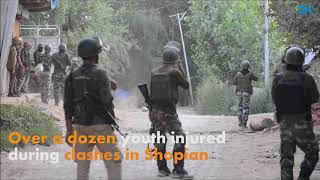 Over a dozen youth injured during clashes in Shopian
