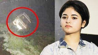 Dangal Actress Zaira Wasim's Accident, CAR Falls In Dal Lake