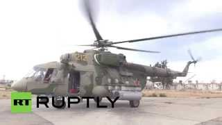 Syria: Mil Mi-24 attack helicopters guard Russia's main Syrian Air Base