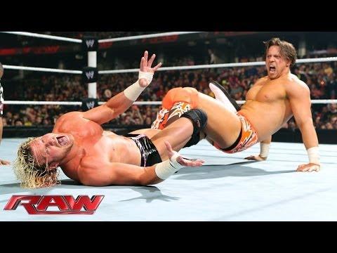 Dolph Ziggler vs. The Miz - The Battle of Cleveland- Raw, Jan. 27, 2014 - WWE Wrestling Video