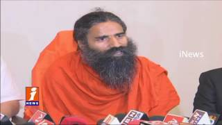 Ramdev Baba Visits Krishnapatnam Port | Plan to Launch Patanjali In South India | iNews