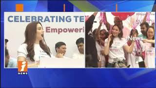 Actress Tamannaah Starts Pink Ribbon 5K Run In KBR Park | Hyderabad | iNews